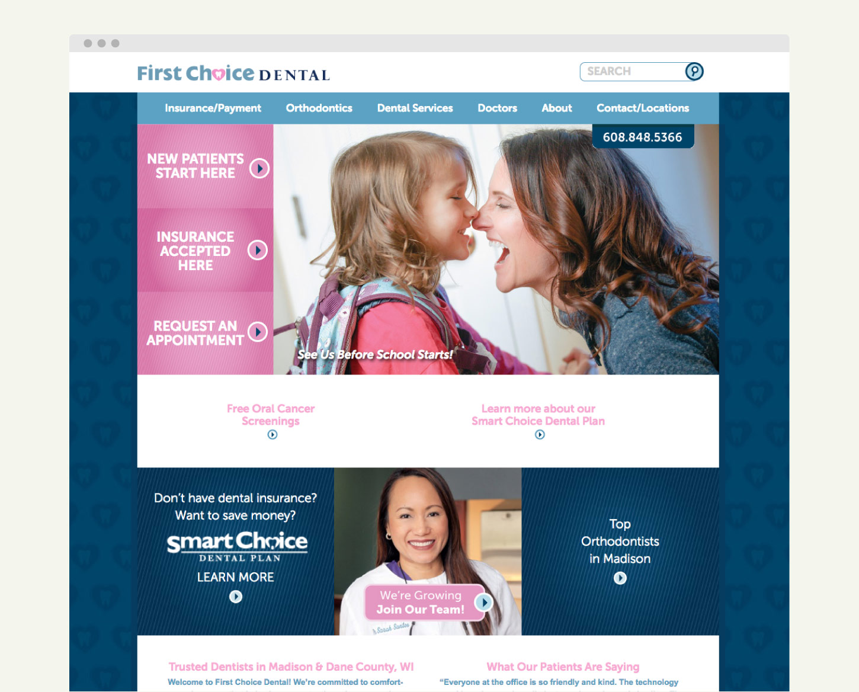 First Choice Dental Drupal Website Development