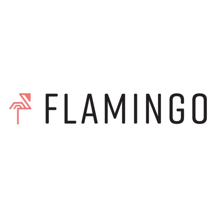 Flamingo Microscope Product Logo Design