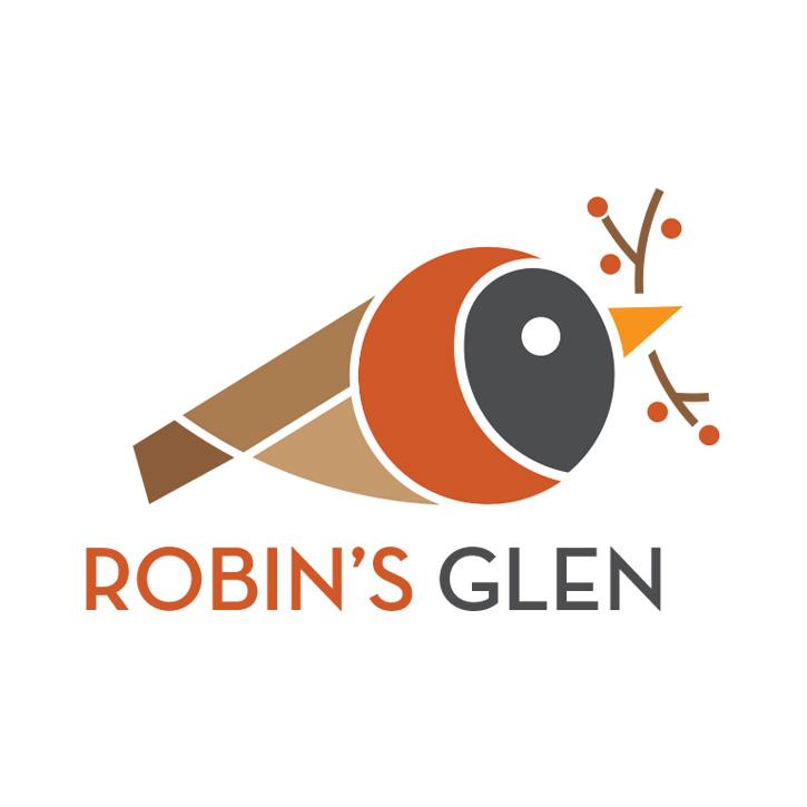 Robin's Glen housing development logo design